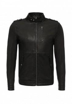 Куртка кожаная, Casual Friday by Blend, цвет: черный. Артикул: CA049EMKQL57. Мужская одежда / Верхняя одежда / Кожаные куртки