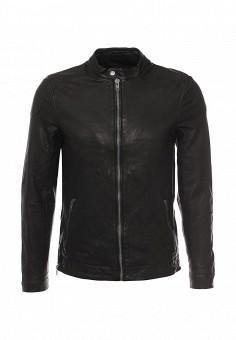Куртка кожаная, Casual Friday by Blend, цвет: черный. Артикул: CA049EMQQZ72. Мужская одежда / Верхняя одежда / Кожаные куртки