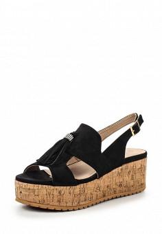 Босоножки, Catisa, цвет: черный. Артикул: CA072AWTFO68. Женская обувь / Босоножки
