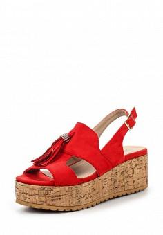 Босоножки, Catisa, цвет: красный. Артикул: CA072AWTFO70. Женская обувь / Босоножки