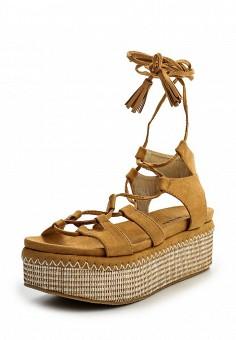 Босоножки, Catisa, цвет: коричневый. Артикул: CA072AWTFO89. Женская обувь / Босоножки