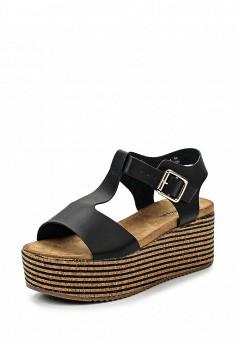 Босоножки, Catisa, цвет: черный. Артикул: CA072AWTFP34. Женская обувь / Босоножки