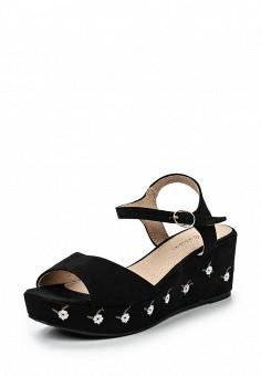 Босоножки, Catisa, цвет: черный. Артикул: CA072AWTFP62. Женская обувь / Босоножки