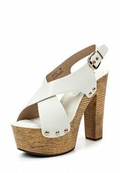 Босоножки, Catisa, цвет: белый. Артикул: CA072AWTFP69. Женская обувь / Босоножки