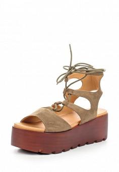 Босоножки, Catisa, цвет: зеленый. Артикул: CA072AWTOT76. Женская обувь / Босоножки