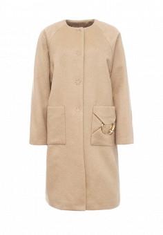 Пальто, Cavalli Class, цвет: бежевый. Артикул: CA078EWJWK45. Премиум / Одежда / Верхняя одежда / Пальто