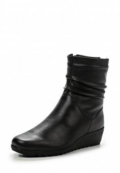 Полусапоги, Caprice, цвет: черный. Артикул: CA107AWJPS28. Женская обувь / Сапоги
