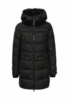 Куртка утепленная, Clasna, цвет: черный. Артикул: CL016EWNLR81. Женская одежда / Верхняя одежда / Пуховики и зимние куртки