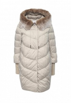 Куртка утепленная, Clasna, цвет: бежевый. Артикул: CL016EWNLR84. Женская одежда / Верхняя одежда / Пуховики и зимние куртки