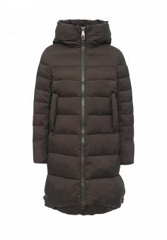 Куртка утепленная, Clasna, цвет: хаки. Артикул: CL016EWNLX47. Женская одежда / Верхняя одежда / Пуховики и зимние куртки