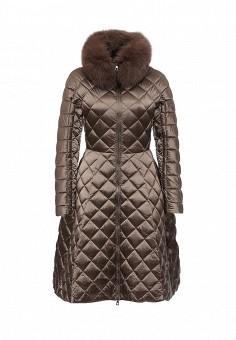 Пуховик, Conso Wear, цвет: коричневый. Артикул: CO050EWMIT79. Женская одежда / Верхняя одежда / Пуховики и зимние куртки
