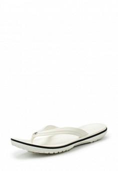 Сланцы, Crocs, цвет: белый. Артикул: CR014AUIEC26. Женская обувь / Шлепанцы и акваобувь