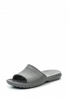 Сланцы, Crocs, цвет: серый. Артикул: CR014AUREC75. Женская обувь / Шлепанцы и акваобувь