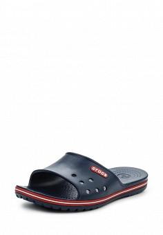 Сланцы, Crocs, цвет: синий. Артикул: CR014AUREC78. Женская обувь / Шлепанцы и акваобувь