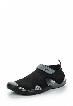 Акваобувь, Crocs, цвет: черный. Артикул: CR014AWREU62. Женская обувь / Шлепанцы и акваобувь