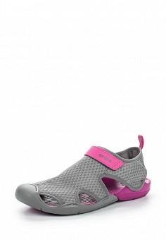 Акваобувь, Crocs, цвет: серый. Артикул: CR014AWREU63. Женская обувь / Шлепанцы и акваобувь