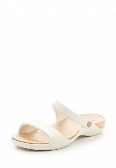 Сланцы, Crocs, цвет: белый. Артикул: CR014AWREU64. Женская обувь / Шлепанцы и акваобувь