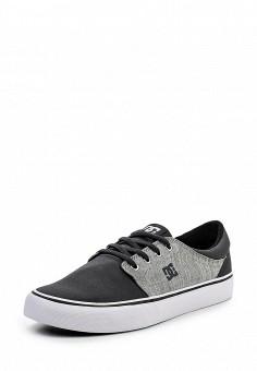 Кеды DC Shoes выполнены из плотного текстиля с логотипом бренда на
