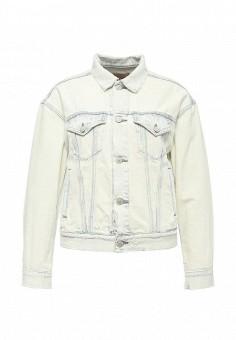 Куртка джинсовая, Denim & Supply Ralph Lauren, цвет: белый. Артикул: DE023EWPEF37. Женская одежда / Верхняя одежда / Джинсовые куртки