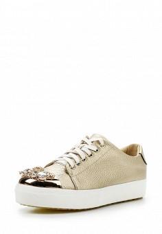 Кеды, Dino Ricci Trend, цвет: золотой. Артикул: DI029AWQYY06. Женская обувь / Кроссовки и кеды