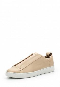 Кеды, DKNY, цвет: бежевый. Артикул: DK001AWVBF28. Женская обувь / Кроссовки и кеды