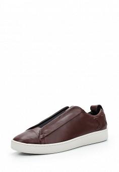 Кеды, DKNY, цвет: бордовый. Артикул: DK001AWVBF29. Женская обувь / Кроссовки и кеды