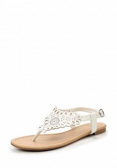 Сандалии, Dorothy Perkins, цвет: белый. Артикул: DO005AWTWD77. Женская обувь / Сандалии
