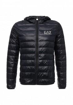 Пуховик, EA7, цвет: синий. Артикул: EA002EMJXS94. Мужская одежда / Верхняя одежда / Пуховики и зимние куртки