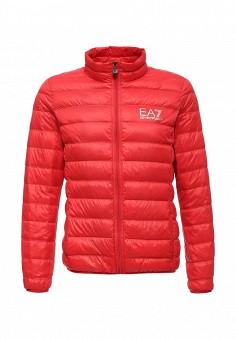 Пуховик, EA7, цвет: красный. Артикул: EA002EMUEK26. Мужская одежда / Верхняя одежда / Пуховики и зимние куртки