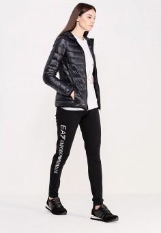 Пуховик, EA7, цвет: черный. Артикул: EA002EWUEJ07. Женская одежда / Верхняя одежда / Пуховики и зимние куртки