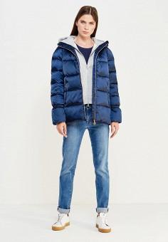 Пуховик, EA7, цвет: синий. Артикул: EA002EWUEJ23. Премиум / Одежда / Верхняя одежда / Пуховики и зимние куртки