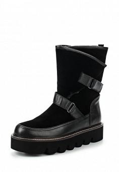 Полусапоги, Ekonika, цвет: черный. Артикул: EK002AWMZN35. Женская обувь / Сапоги