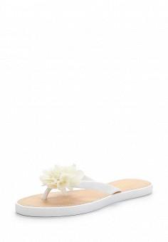 Сланцы, Ella, цвет: белый. Артикул: EL023AWEBB22. Женская обувь / Шлепанцы и акваобувь