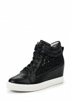 Кеды на танкетке, Fashion & Bella, цвет: черный. Артикул: FA034AWQTI88. Женская обувь / Кроссовки и кеды
