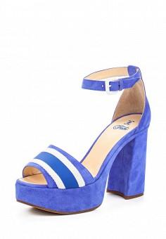 Босоножки, Fabi, цвет: синий. Артикул: FA075AWNXW88. Премиум / Обувь / Босоножки