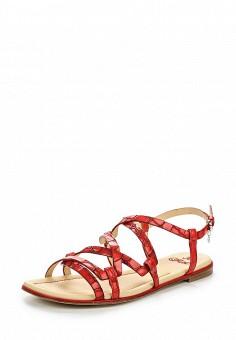 Сандалии, Fabi, цвет: красный. Артикул: FA075AWNXX01. Премиум / Обувь / Сандалии