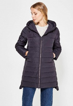 Пуховик, Finn Flare, цвет: черный. Артикул: FI001EWUZV35. Женская одежда / Верхняя одежда / Пуховики и зимние куртки