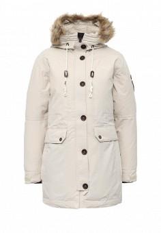 Парка, FIVE seasons, цвет: бежевый. Артикул: FI615EWMLN80. Женская одежда / Верхняя одежда / Пуховики и зимние куртки