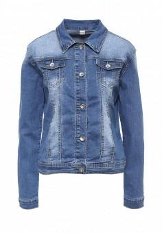 Куртка джинсовая, G&G, цвет: синий. Артикул: GG001EWRCI74. Женская одежда / Верхняя одежда / Джинсовые куртки