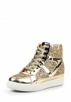 Кеды на танкетке, Girlhood, цвет: золотой. Артикул: GI021AWPRM35. Женская обувь / Кроссовки и кеды / Кеды