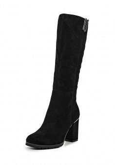 Сапоги, Grand Style, цвет: черный. Артикул: GR025AWKGT55. Женская обувь / Сапоги