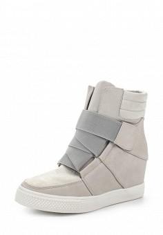 Кеды на танкетке, Ideal, цвет: серый. Артикул: ID005AWSBE53. Женская обувь / Кроссовки и кеды / Кеды