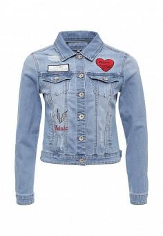 Куртка джинсовая, Imocean, цвет: голубой. Артикул: IM007EWSNN54. Женская одежда / Верхняя одежда / Джинсовые куртки