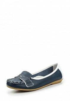 Мокасины, Instreet, цвет: синий. Артикул: IN011AWPMA26. Женская обувь / Мокасины и топсайдеры