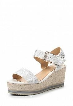 Босоножки, Inario, цвет: серебряный. Артикул: IN029AWQQY04. Женская обувь / Босоножки