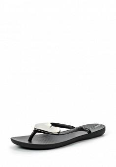 Сланцы, Ipanema, цвет: черный. Артикул: IP124AWTAU10. Женская обувь / Шлепанцы и акваобувь