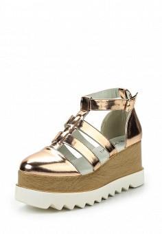 Туфли, Janessa, цвет: золотой. Артикул: JA026AWSZE61. Janessa