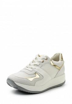 Кеды на танкетке, Keddo, цвет: белый. Артикул: KE037AWQCD53. Женская обувь / Кроссовки и кеды