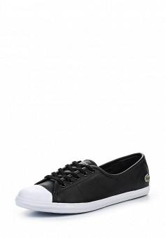 Кеды, Lacoste, цвет: черный. Артикул: LA038AWPZO01. Женская обувь / Кроссовки и кеды