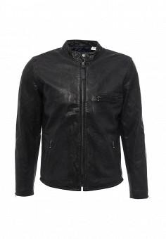 Куртка кожаная, Levi's®, цвет: черный. Артикул: LE306EMJWQ97. Мужская одежда / Верхняя одежда / Кожаные куртки